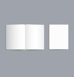 Mockup bifold brochure white paper flyer vector