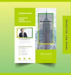modern business flyer template vector image