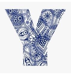 Oriental style alphabet vector image