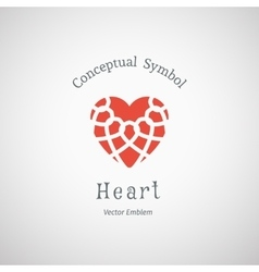 Ornamental Heart Logo vector