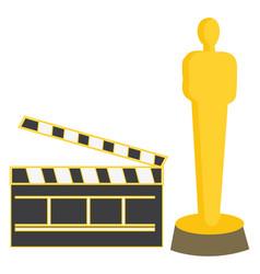 Oscar on white background vector