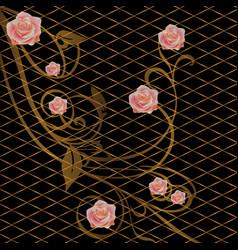 Pattern floral flower background vector