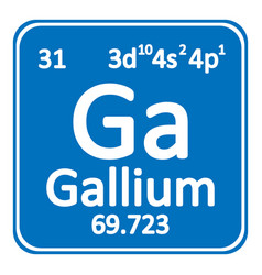 periodic table element gallium icon vector image