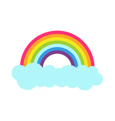 princess party rainbow poster vector image