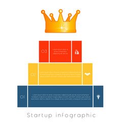 pyramid of 3 steps to success infographic vector image