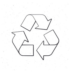 Recycling symbol outline vector