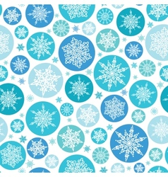 Round Snowflakes Seamless Pattern Background vector image
