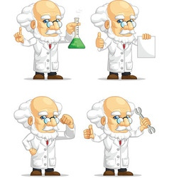 Scientist or Professor Customizable Mascot 2 vector image
