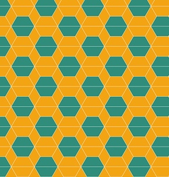 Seamless abstract hexagonal tiles pattern vector image