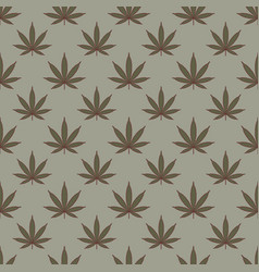 Seamless pattern with marijuana leaf cannabis vector