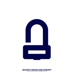 security icon logo design protection and vector image