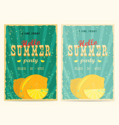 Set of retro summer holiday posters travel and vector