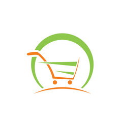 Shopping cart abstract buy speed logo vector