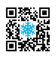 Smartphone readable qr code merry christmas vector