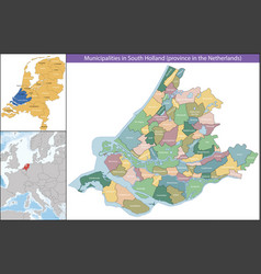 South holland is a province netherlands vector