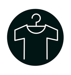 Tshirt with hanger block and line style icon vector