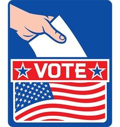 USA Vote Poster Design vector