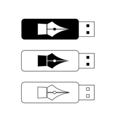 usb flash drives portable data storage vector image
