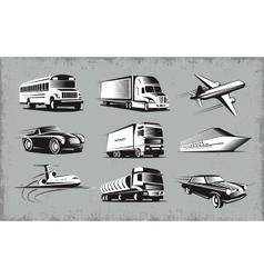 Various Transport Modes Symbol Set vector