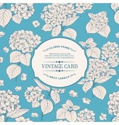 Vintage floral label vector