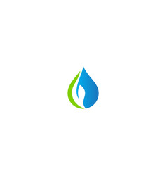 Water droplet bio eco leaf nature logo vector