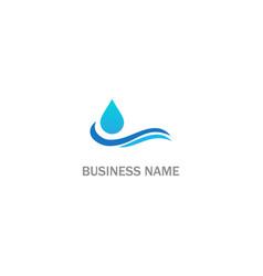 water wave droplet logo vector image