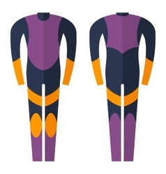 wetsuit for diving vector image