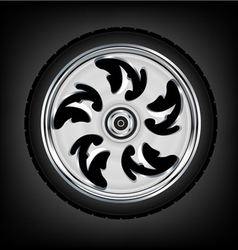Wheel and tyre vector
