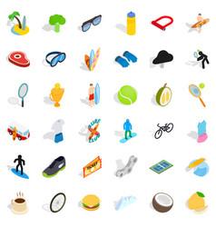 winner icons set isometric style vector image
