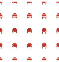 Winter hat icon pattern seamless white background vector