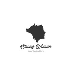 woman and wolf logo designs vector image