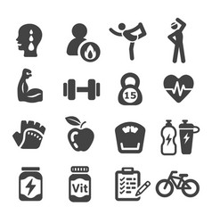 Workout icon vector