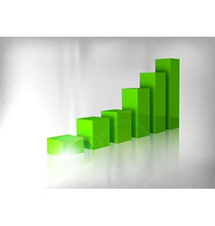graph green vector image