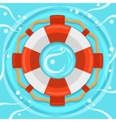 Lifebuoy flat color icon vector image vector image
