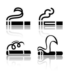 Set of symbols cigarettes vector image vector image
