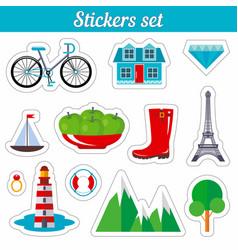 Stickers set vector