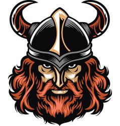 viking warrior head vector image