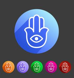hamsa hamesh icon flat web sign symbol logo label vector image vector image