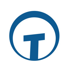 letter t logo design vector image