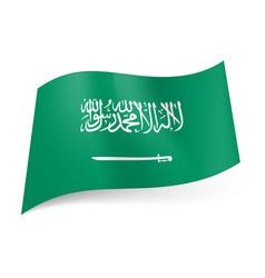 national flag of saudi arabia white inscription vector image vector image