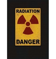 Radiation sign grunge background vector image vector image