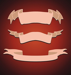 Set of Vintage Ribbons vector image vector image