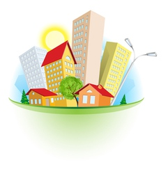 Abstract cartoon city vector