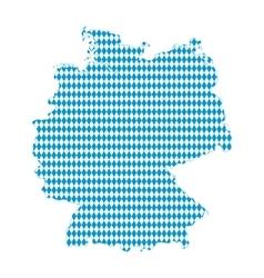 Map of germany bavarian flag vector