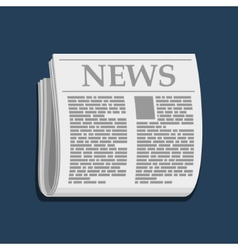 Newspaper Icon Business News vector image