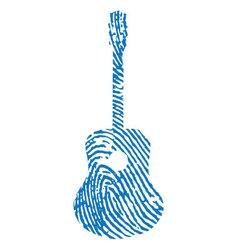 thumbprint-guitar vector image