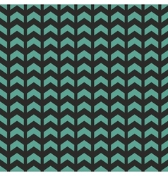 Tile pattern with blue or mint green zig zag print vector image vector image