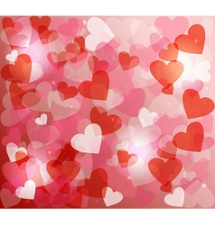 Valentines day love heart shape love bokeh vector image vector image