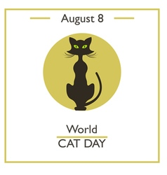 World Cat Day vector image vector image