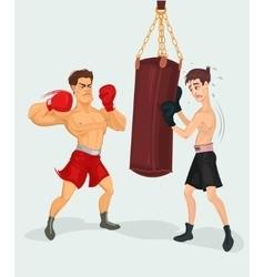 A boxer vector
